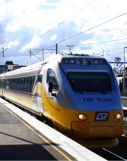 Tilt Train at Caboolture Railway Station Queensland